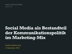<b>Erfolgreicher Einsatz von Social Media 2012, Goethe Galerie Jena</b> (PDF, 12.8 MB)